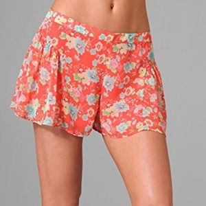NWOT Free People Floral Shorts